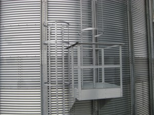 External Vertical Ladder with safety cage